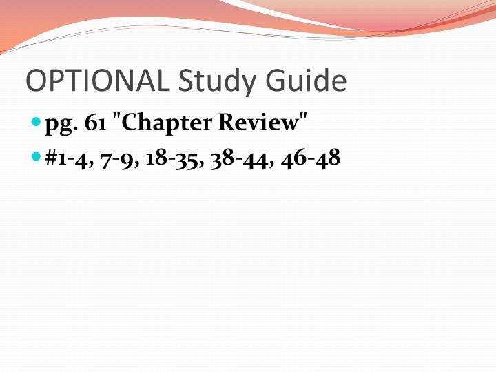 OPTIONAL Study Guide