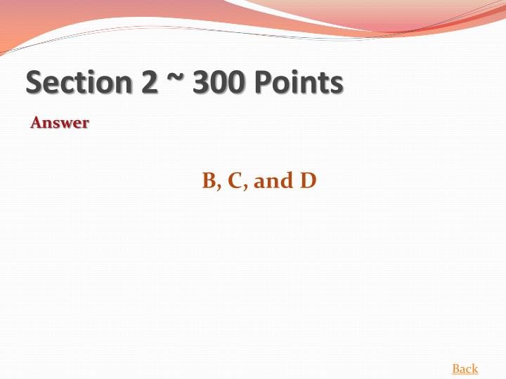 Section 2 ~ 300 Points