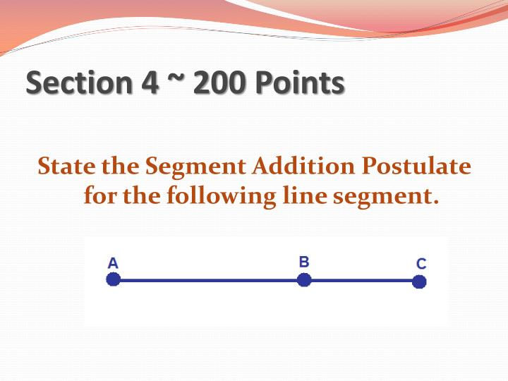 Section 4 ~ 200 Points