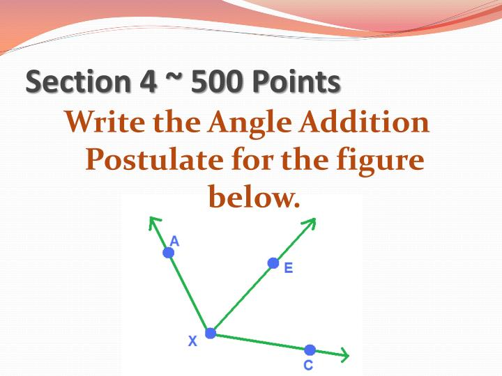 Section 4 ~ 500 Points