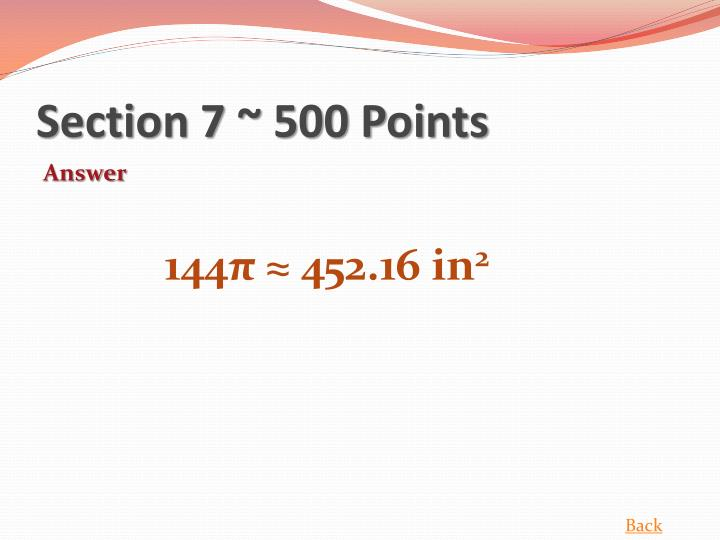 Section 7 ~ 500 Points