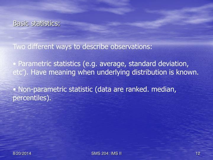 Basic statistics: