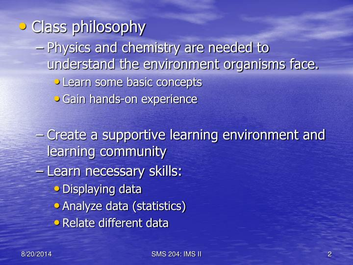Class philosophy