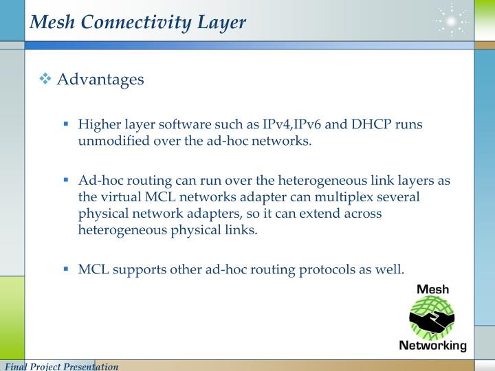Mesh Connectivity Layer