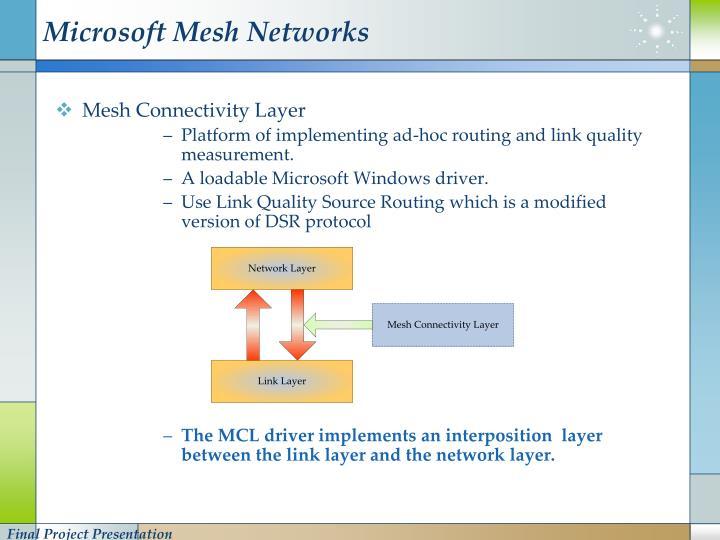 Microsoft Mesh Networks