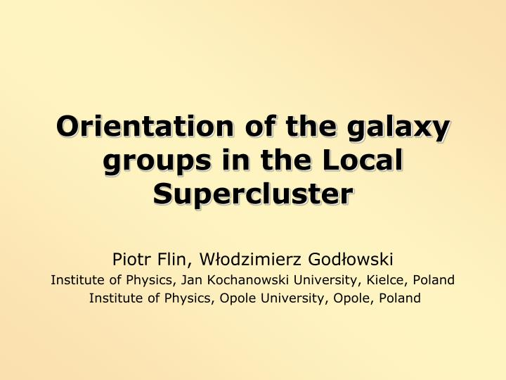 Orientation of the galaxy groups in the Local