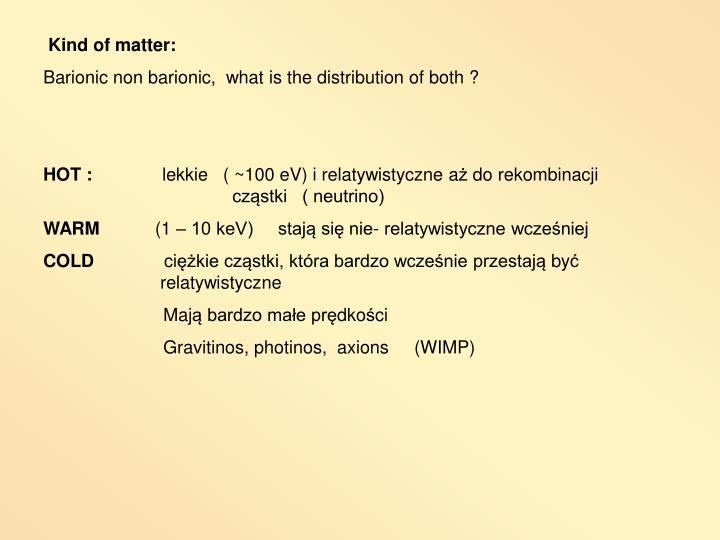 Kind of matter: