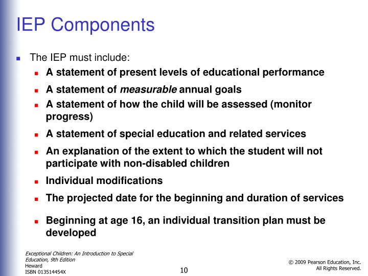IEP Components