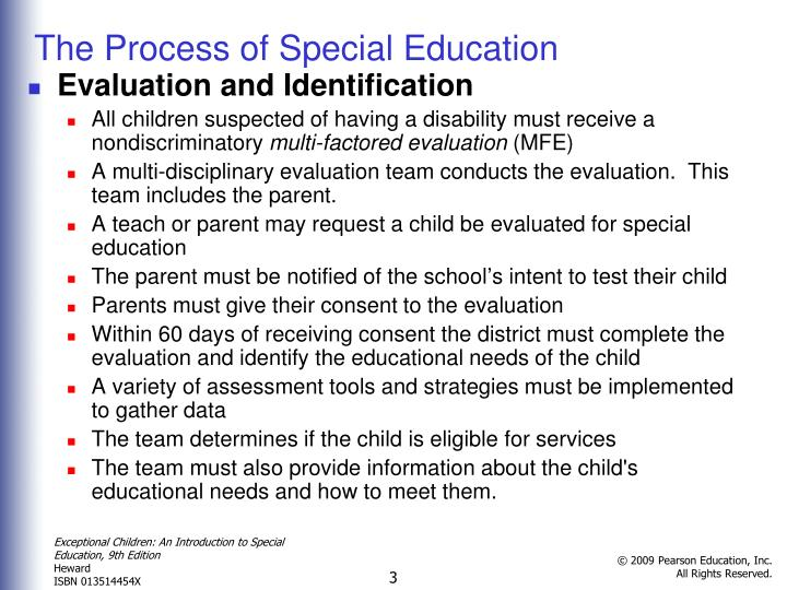 The Process of Special Education