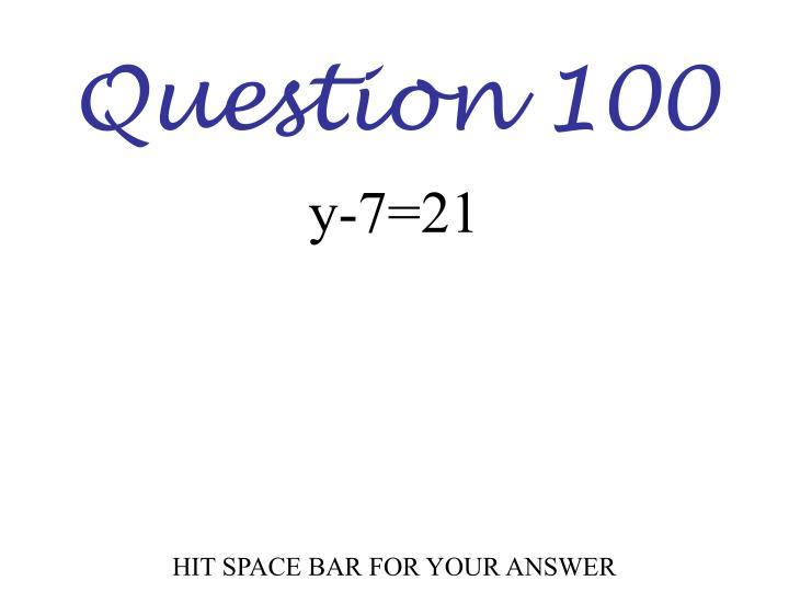 Question 100
