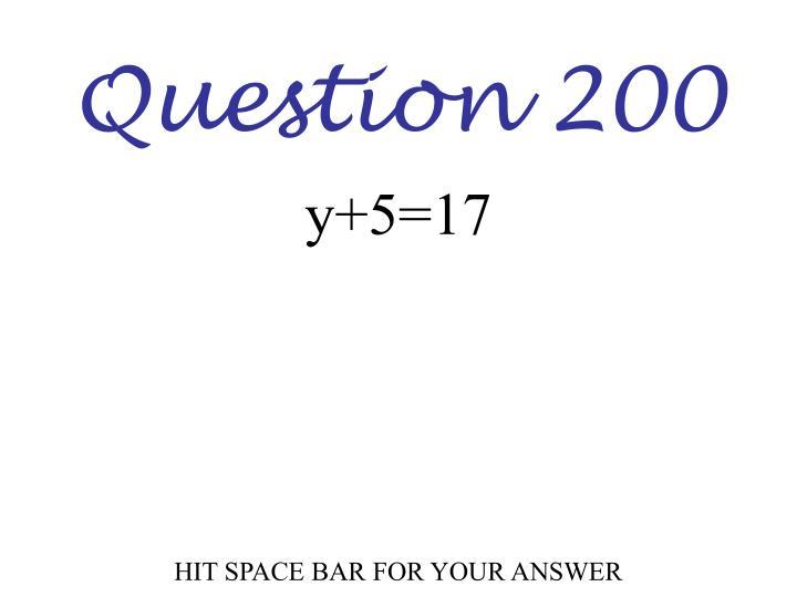 Question 200