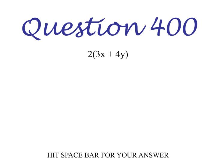 Question 400