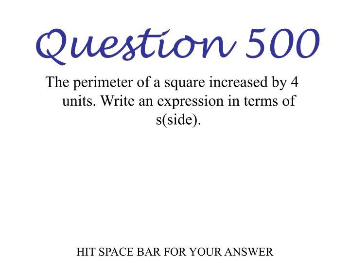 Question 500