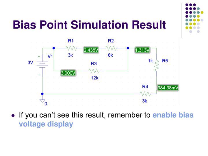 Bias Point Simulation Result