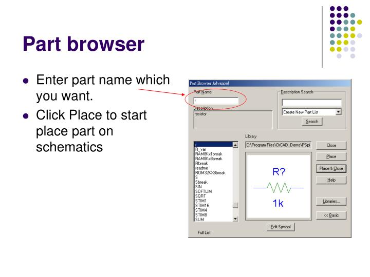 Part browser