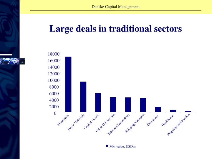 Large deals in traditional sectors