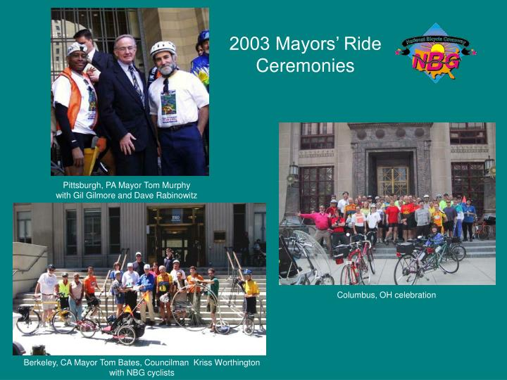 2003 Mayors' Ride