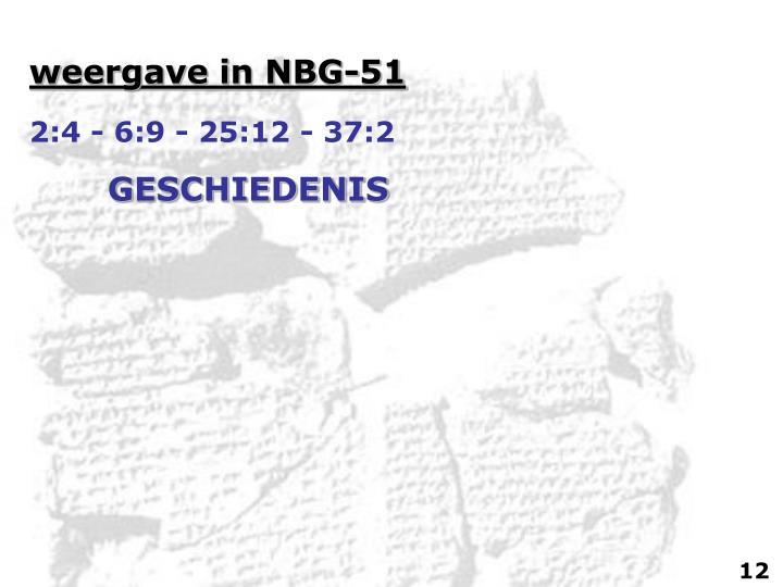 weergave in NBG-51