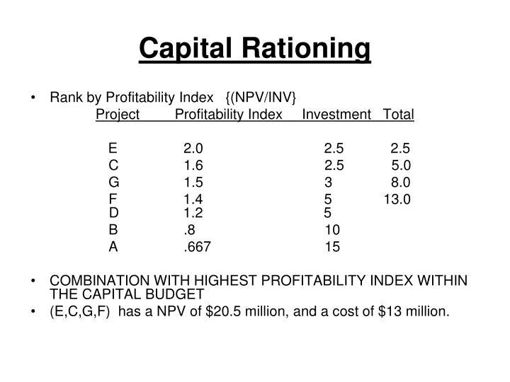 Capital Rationing