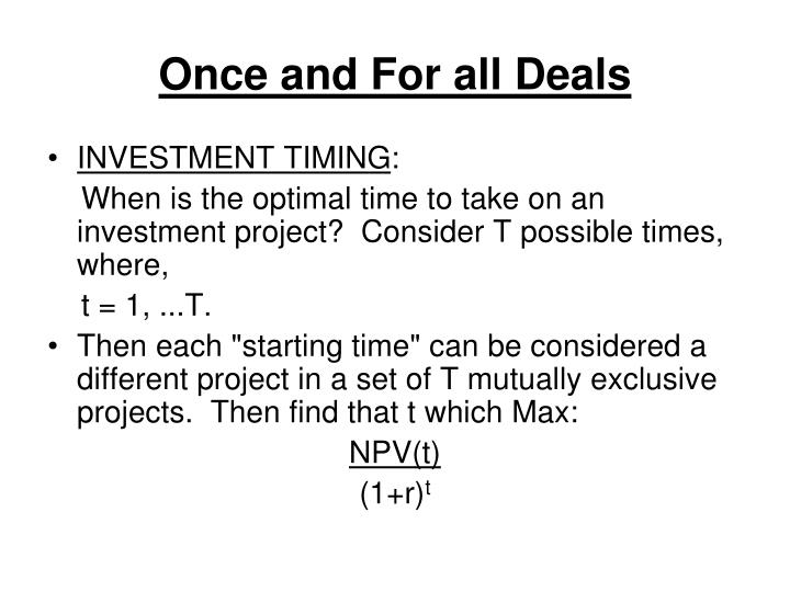 Once and For all Deals