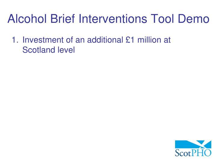 Alcohol Brief Interventions Tool Demo