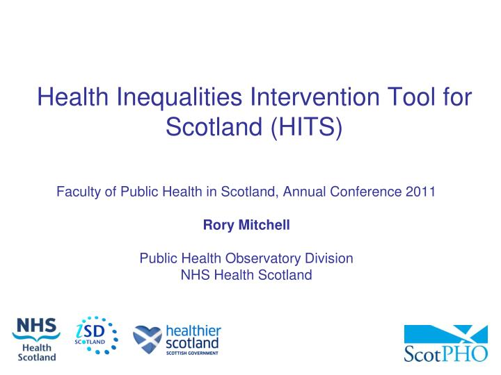 health inequalities intervention tool for scotland hits