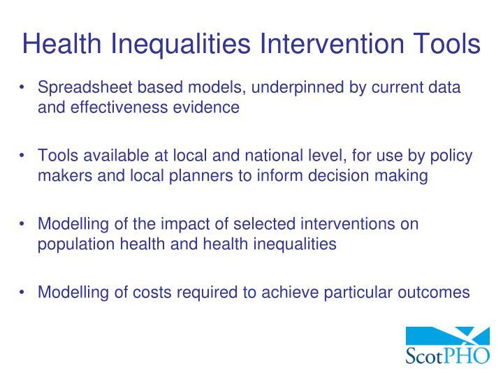 Health Inequalities Intervention Tools