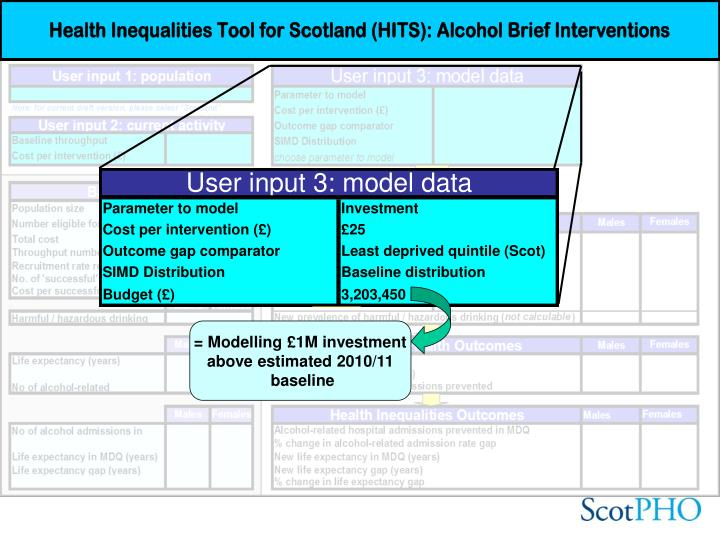 = Modelling £1M investment