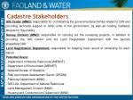 cadastre stakeholders