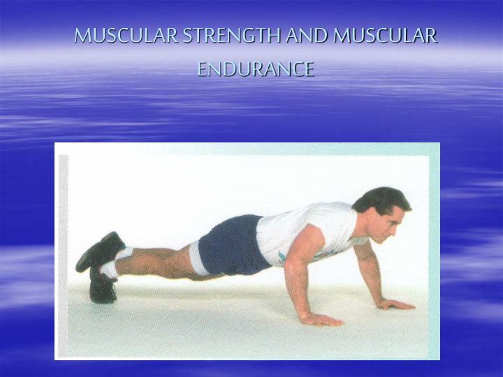 MUSCULAR STRENGTH AND MUSCULAR ENDURANCE