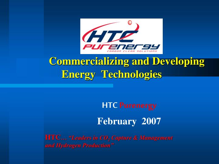 commercializing and developing energy technologies