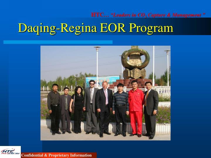 Daqing-Regina EOR