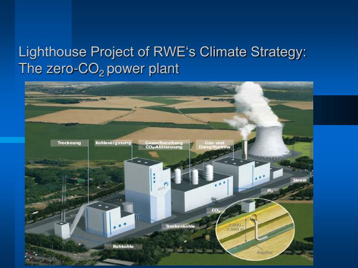 Lighthouse Project of RWE's Climate Strategy: