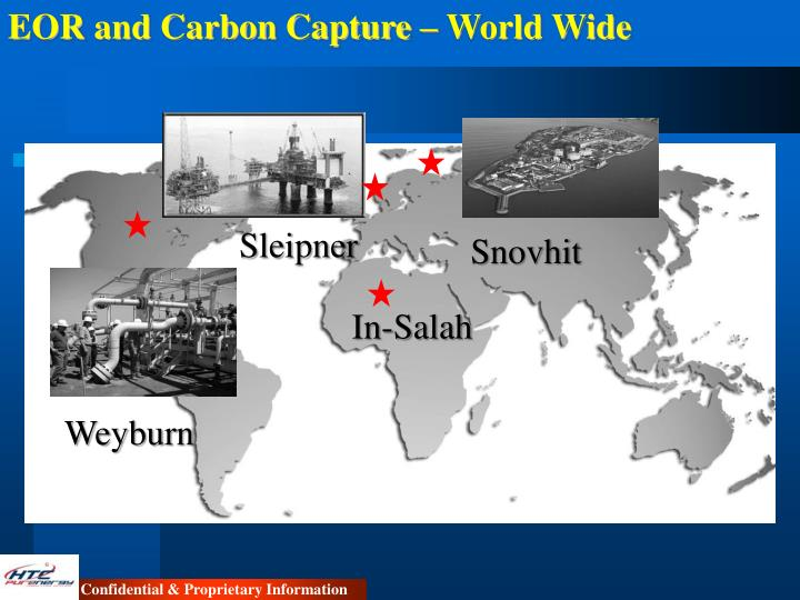 EOR and Carbon Capture – World Wide