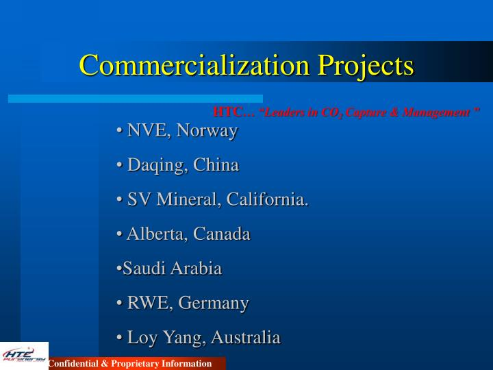 Commercialization Projects