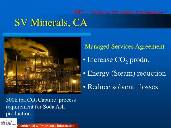 SV Minerals, CA