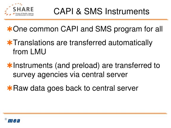 CAPI & SMS Instruments