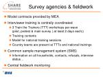 survey agencies fieldwork