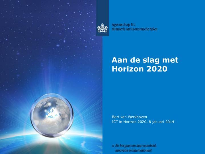 Aan de slag met Horizon 2020