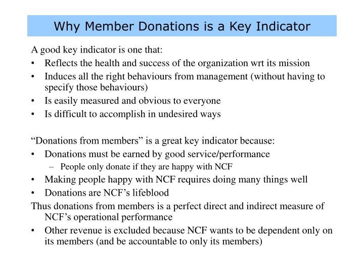 Why Member Donations is a Key Indicator