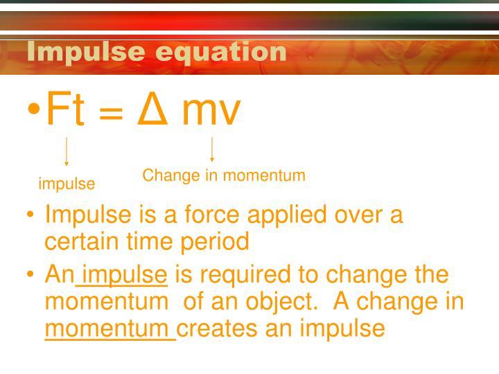 Impulse equation