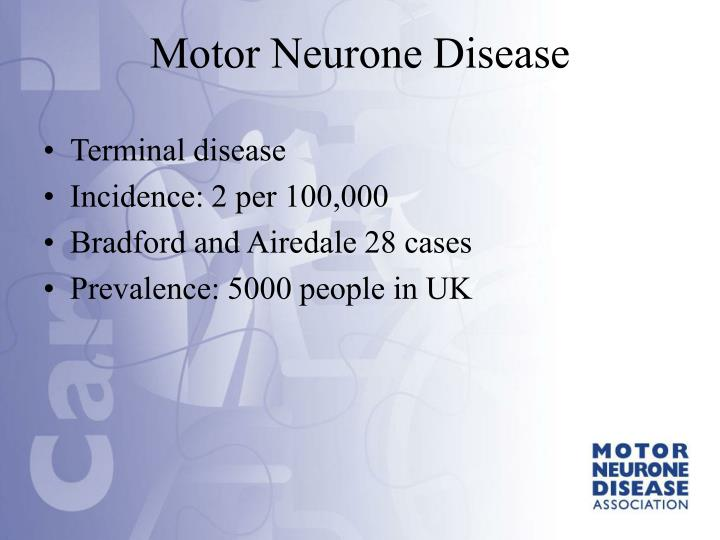Terminal disease