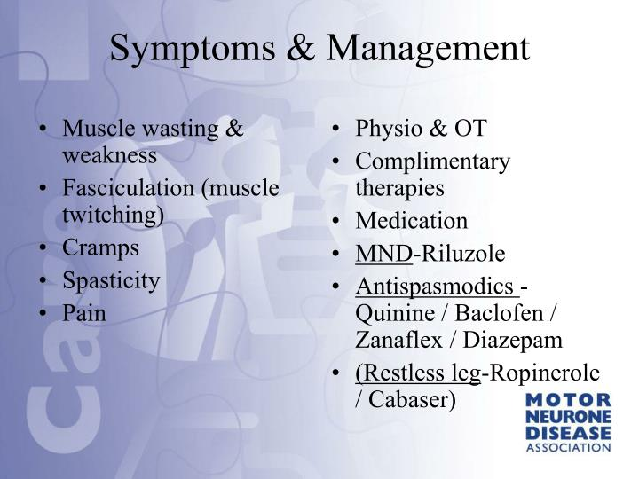 Muscle wasting & weakness