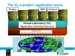 the vl e project application areas