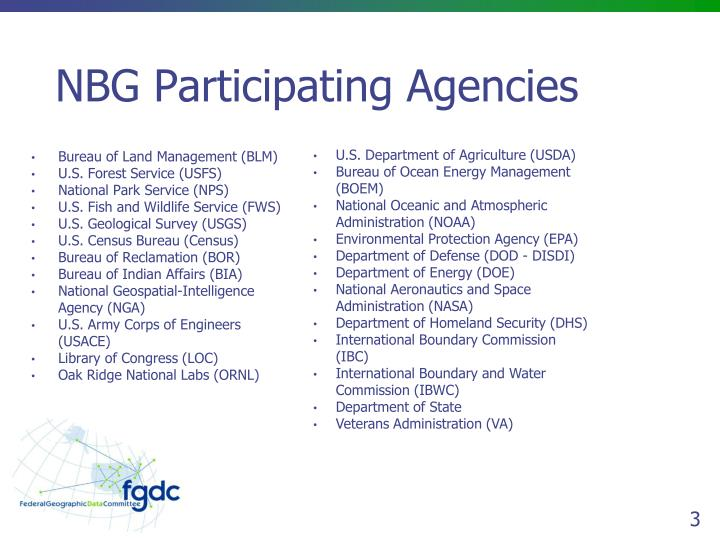Nbg participating agencies