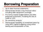 borrowing preparation