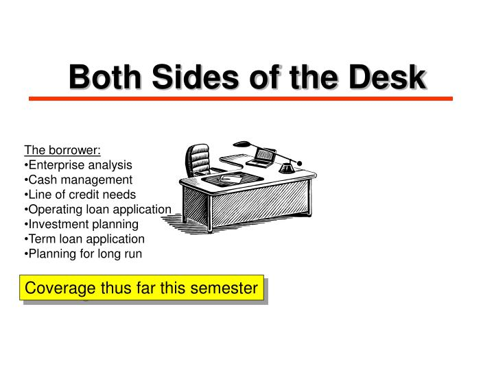 Both Sides of the Desk