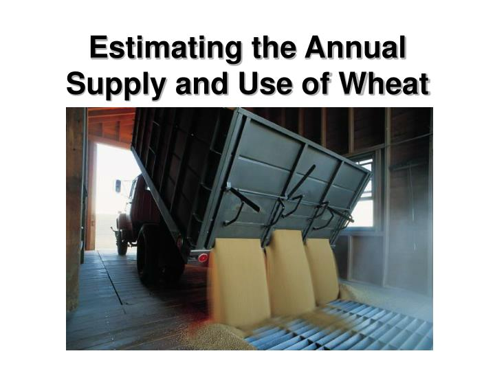 Estimating the Annual Supply and Use of Wheat