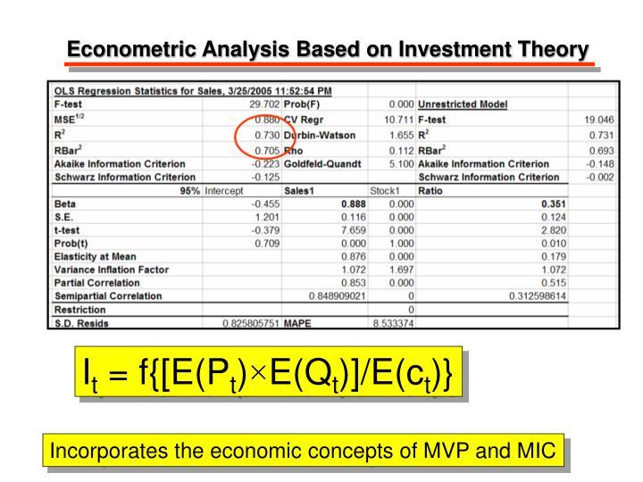 Econometric Analysis Based on Investment Theory