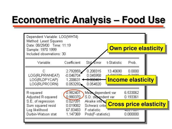 Econometric Analysis – Food Use